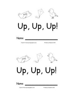 Emergent Reader: Up, Up, Up!: Sight words: (the, can, go, up)