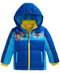 Nickelodeon Paw Patrol Boys Lets Snow Winter Padded Jacket with Hood