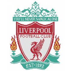 Liverpool FC cross stitch