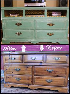 Turn a dresser into an entertainment center.