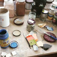 Glazing alchemy. Art in Action looms! #artinaction #glaze #ceramics