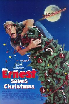 Ernest Saves Christmas: Directed by John R. With Jim Varney, Douglas Seale, Oliver Clark, Noelle Parker. Ernest helps Santa Claus as he searches for his successor. Xmas Movies, Best Christmas Movies, Christmas Shows, Great Movies, Christmas Fun, Holiday Movies, Christmas Poster, Family Movies, Disney Movies