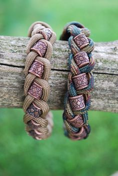 Paracord and Bead braided bracelet on Etsy, $9.92: