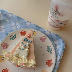 Pretty Birthday Cakes, Pretty Cakes, Cute Cakes, Korean Cake, Cute Desserts, Cafe Food, Aesthetic Food, Sweet Recipes, Cake Decorating