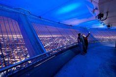 The CN Tower Outdoor Observation deck at night Tour Cn, Toronto Cn Tower, Toronto Ontario Canada, Light Pollution, City Lights, Fair Grounds, Public, Photos, Night