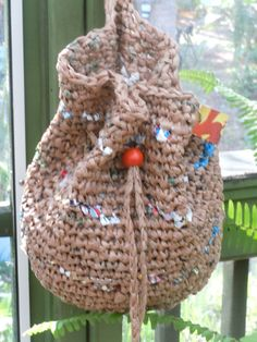 RECYCLED HOBO BAG made from crocheted plastic bags   by lecraftee, $25.00