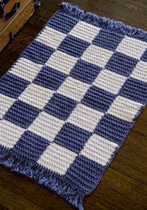 Checkerboard #crochet rug