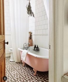 Our pink tub is a guest favorite 💕 Inside Unit One at . Stil Inspiration, Bathroom Inspiration, Spiritual Inspiration, Inspiration Quotes, Writing Inspiration, Motivation Inspiration, Creative Inspiration, Character Inspiration, Travel Inspiration