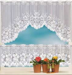 Half Curtains, Tier Curtains, Short Curtains, Voile Curtains, White Lace Curtains, Panel Curtains, Drapery, Bedroom Doors, Living Room Bedroom