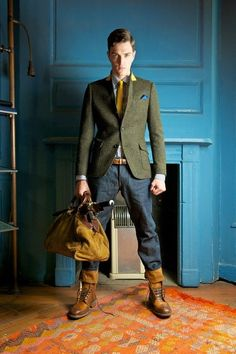Superdry + Timothy Everest Autumn/Winter 2012 Sebiro Collection: Mix & Match Young Men's Casual & Men's Formalwear Construction To Intrigue A Much Relaxed Formalwear Style For Young Generation