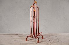 Lámpara de mesa de cobre de RETO por Zapalgo en Etsy