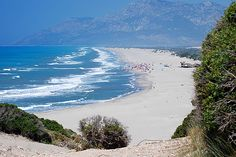 Patara Beach . At 45 miles to the southeast of Fethiye, surrounded by white sand and beautiful dunes in the center of the ancient ruins, this place is - Patara Beach. This is the beach regularly recognized as the best in Turkey. .