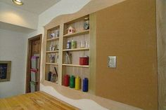 dollhouse built into wall studs | Build Individual Wood Cabinets or Open Shelves between Existing Wall ...