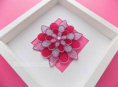housewarming gift floral home decor pink flower by WonderCraftShop