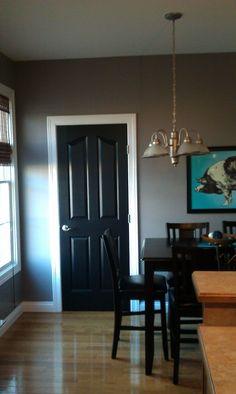 Image result for green walls black doors