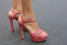 #shoes #chaussures #sandals #sandales #pois