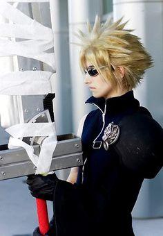Final Fantasy VII Cloud Strife Cosplay Boy