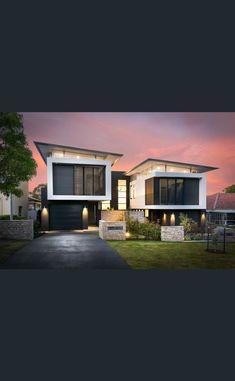 Row House Design, Classic House Design, Duplex House Design, Villa Design, Modern House Design, Narrow House Plans, Duplex House Plans, Contemporary Building, Contemporary Homes