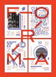 Brand identity for the art festival: FORMA. Festival Sztuk im. Wojciecha…