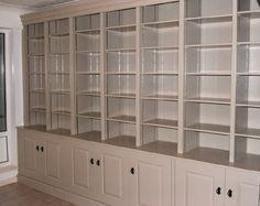 large painted breakfront bookcase