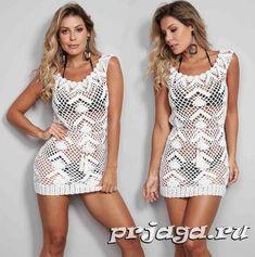 Παραλία Τουνίκ Crochet Summer Dress Patterns, Summer Dresses, Rompers, Crochet Summer, Free, Fashion, Woman Dresses, Sundress Pattern, Women
