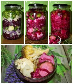 fermentálás how to Gourmet Recipes, Healthy Recipes, Pickling Cucumbers, Pickles, Salad Recipes, Healthy Living, Paleo, Food And Drink, Vegetarian