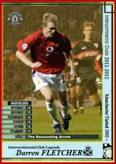 Intercontinental Club Legends card - Darren Fletcher of Man Utd.