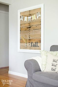 You can easily trade the accessories out of this beautiful piece of wooden wall art as the seasons change.
