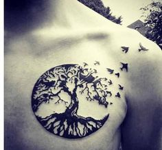 50 Oak Tree Tattoo Designs For . - 50 Oak Tree Tattoo Designs for Men – Inked Leaves and Acorns - Tatuajes Tattoos, Bild Tattoos, Body Art Tattoos, New Tattoos, Sleeve Tattoos, Tattoos For Guys, Tatoos, Chest Tattoos For Men, Tattoos 2014