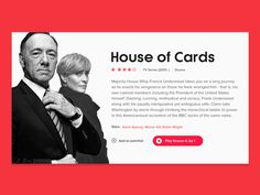 House of Cards - Movie Card