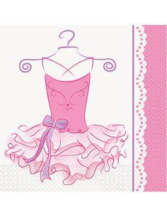 20 tovaglioli di carta tema Ballerina misure 33 x 33 cm su VegaooParty, negozio di articoli per feste. Scopri il maggior catalogo di addobbi e decorazioni per feste del web,  sempre al miglior prezzo!