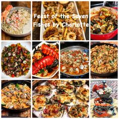 So many recipe ideas to prepare for your Feast of the Seven Fishes celebration on Christmas Eve from appetizers to salads to the main course. Quick Recipes, Fish Recipes, Seafood Recipes, Pasta Recipes, Keto Recipes, Seafood Stew, Fish And Seafood, Calamari Recipes, Grilled Oysters