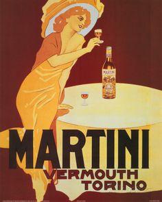 VERMOUTH MARTINI POSTER RARE LEONETTO CAPPIELLO 16X20