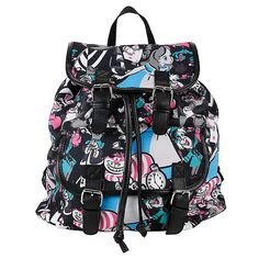 Disney Alice In Wonderland Medium Slouch Backpack Hot Topic ($15) ❤ liked on Polyvore featuring bags, backpacks, disney, rucksack bags, drawstring backpack, snap bag, slouch backpack and disney bag