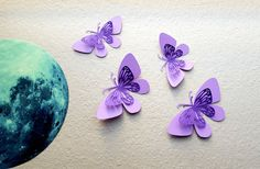 purple butterfly baby shower decorations  purple by MyDreamDecors