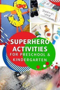 Superhero activities and free printables from Life Over C's for your kindergarten and preschool superhero theme. Superhero addition, graphing, alphabet, sensory, slime, lego and more! Grab free printable superhero worksheets, get amazing superhero decoration ideas for your superhero classroom. Learning Games For Kids, Preschool Learning Activities, Preschool Kindergarten, Teaching Resources, Superhero Classroom, Preschool Lesson Plans, Preschool Ideas, Business For Kids, Free Printables