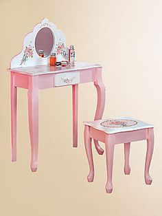 Teamson Vanity Table and Stool Set & Levels of Discovery -Princess Vanity Table \u0026 Chair Set | baby ...