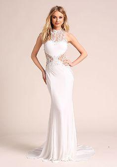 7544e8b571e7e 2018 Beyaz Elbise Modelleri Tek Omuz Fırfırlı Uzun Abiye | Abiye ...