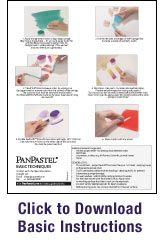 instruction sheet for pan pastels and a link to their site