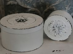 Box i metall med ros stor - antikvit 1 HemmetsHjarta