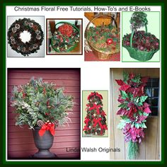 The Best Free Crafts Articles: Christmas Floral Decorating Fun Free Tutorials, E-Patterns, and E-Books by Linda Walsh
