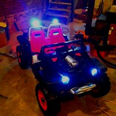 Mason will definitely have one of these one day or a silverado truck :) Power Wheels Truck, Custom Power Wheels, Best Electric Car, Electric Cars, Kids Ride On Toys, Silverado Truck, Outdoor Toys For Kids, Car Fix, Jeep Mods