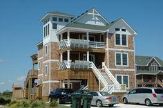 #4   South Nags Head  |  Sol y Mar 615 |  RESERVE IT!!!!   $6900   |  8 bedrooms   |   8 baths   |  milepost 19   |  pool table w rec room seating & TV   |  not great decks