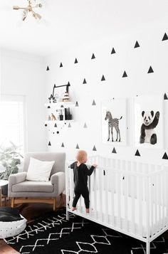 baby boy nursery room ideas 713468765945493537 - Great Inspiration for a black and white nursery with baby zebra and baby panda artwork. I love this punchy monochromatic baby room with over sized baby animal art posters. Baby Bedroom, Baby Boy Rooms, Baby Boy Nurseries, Kids Bedroom, Baby Room Ideas For Boys, Black And White Boys Bedroom, Black Boys, Black White Nursery, White Kids Room