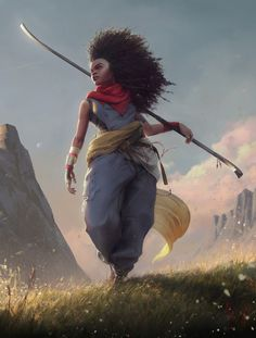 A place to share and appreciate fantasy and sci-fi art featuring reasonably portrayed women. Black Characters, Dnd Characters, Fantasy Characters, Female Characters, Black Girl Art, Black Women Art, Black Art, Character Concept, Character Art