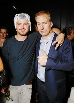 Aaron Paul and Bob Odenkirk attend the A Bates Motel and THR party at San Diego Comic Con 2013.