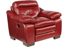 Shop for a Villa Palma Red Leather Recliner at Rooms To Go. Find Leather Recliners  sc 1 st  Pinterest & Debenhams Brown bonded leather Elliot recliner chair u0026 stool- at ... islam-shia.org