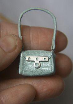 Pale Green Miniature Leather Handbag