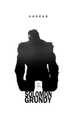 Solomon Grundy - Undead by Steve Garcia - Dc comics Comic Book Characters, Comic Character, Comic Books Art, Comic Art, Hq Marvel, Marvel Dc Comics, Superhero Silhouette, Silhouette Art, Fantastic Four