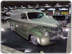 1946 Chevrolet Panel Truck Custom Pickup Trucks, Chevy Pickup Trucks, Classic Chevy Trucks, Chevy Pickups, Chevrolet Trucks, Chevrolet Suburban, Hot Rod Trucks, Cool Trucks, Rat Rods